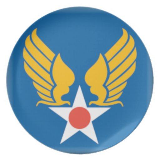 Air Corps Military Emblem Dinner Plate