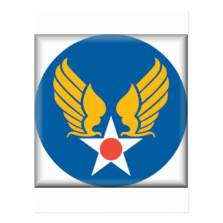 Air Corps Military Emblem Postcard