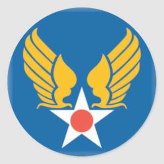 Air Corps Military Emblem Round Sticker