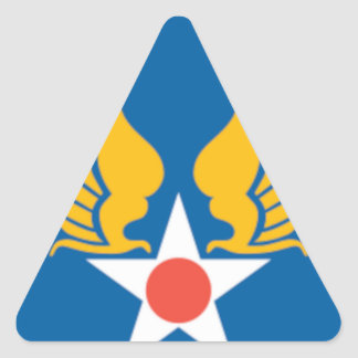 Air Corps Military Emblem Triangle Sticker