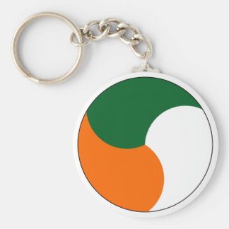 Air Corps of Ireland Basic Round Button Key Ring