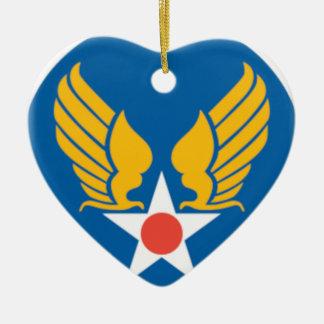 Air Corps Shield Ceramic Heart Decoration