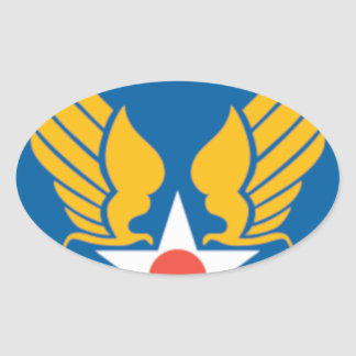 Air Corps Shield Oval Sticker