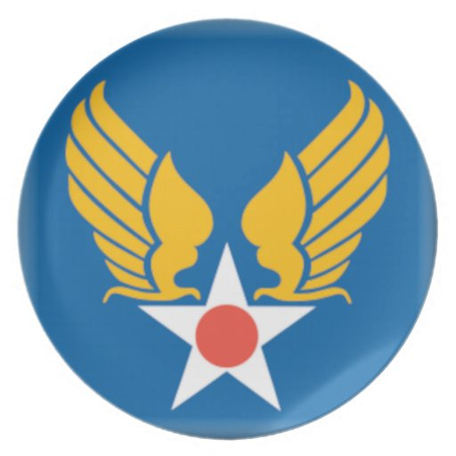 Air Corps Shield Party Plate