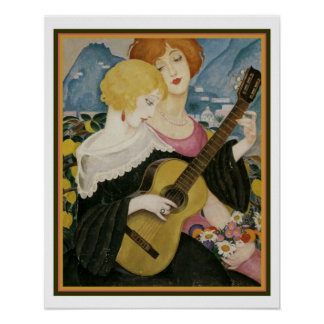 """Air de Capri"" 1923 Gerda Wegener 16 x 20 Poster"