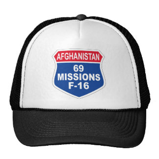 Air Force 69 Missions F-16 Afghanistan Cap
