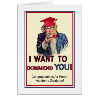 Air Force Academy Graduation, Uncle Sam Patriotic Card