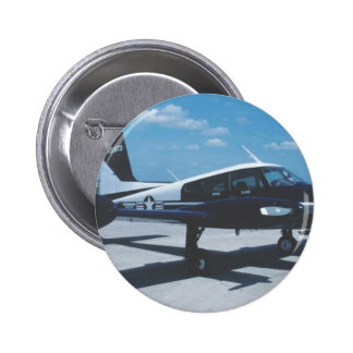 Air Force Blue Canoe Pinback Button