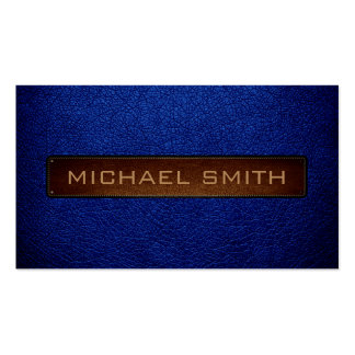 Air Force blue (USAF) Leather Look Professional Pack Of Standard Business Cards