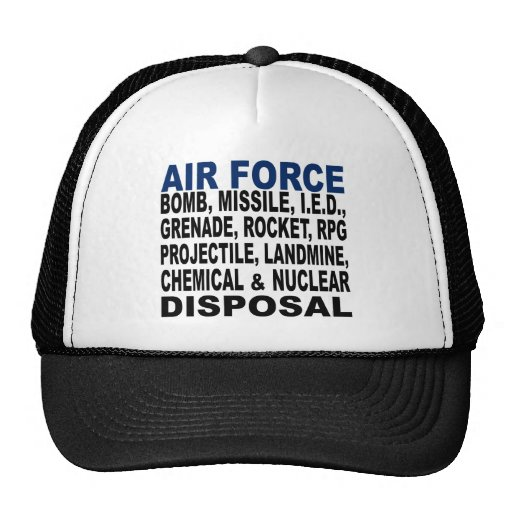 Air Force Bomb etc. Disposal Trucker Hat