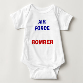 AIR FORCE, BOMBER BABY BODYSUIT