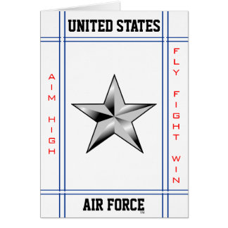 Air Force Brigadier General O-7 Brig Gen Greeting Card