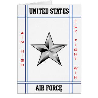 Air Force Brigadier General O-7 Brig Gen Greeting Card