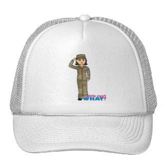 Air Force Camo Black Hair Hats