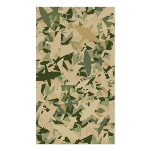 Air Force Camouflage Bookmark Business Cards