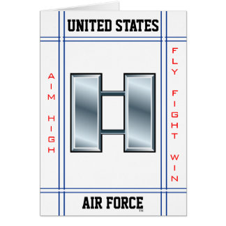 Air Force Captain O-3 Capt Greeting Card