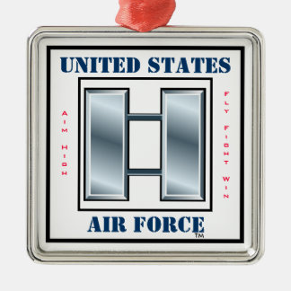 Air Force Captain O-3 Silver-Colored Square Decoration