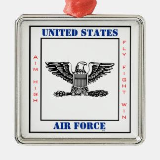 Air Force Colonel COL O-5 Slogan Silver-Colored Square Decoration