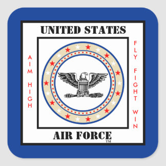 Air Force Colonel COL O-6 Square Sticker