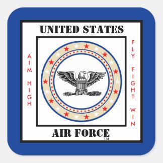 Air Force Colonel COL O-6 Square Sticker