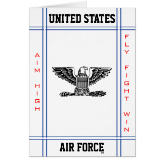 Air Force Colonel O- 6 Col Greeting Card