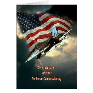 Air Force Commissioning Greeting Card