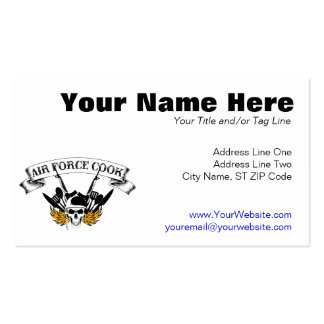 Air Force Cook Pack Of Standard Business Cards