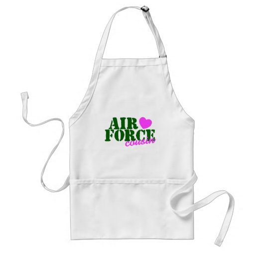 Air Force Cousin Green Pink Apron