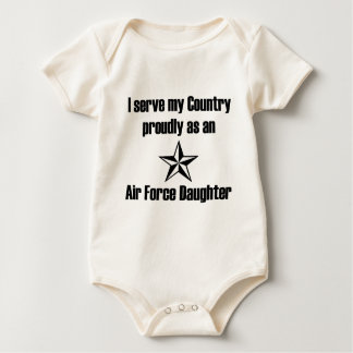 Air Force Daughter Serve Baby Bodysuit