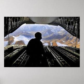Air Force Door Gunner's View Poster