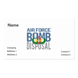 Air Force EOD Pack Of Standard Business Cards