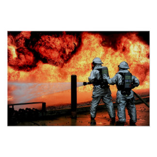Air Force Firefighters Poster