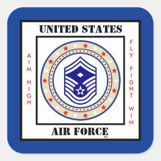 Air Force First Sergeant E-8 Square Sticker