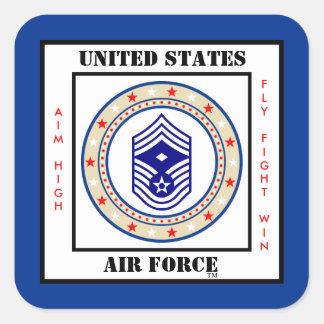 Air Force First Sergeant E-9 Square Sticker