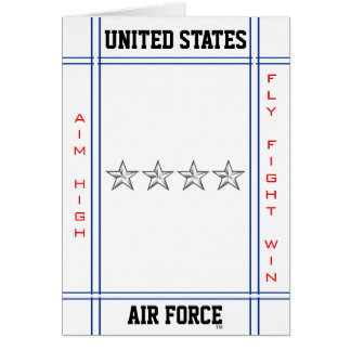 Air Force General O-10 Gen Greeting Card