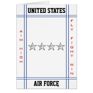 Air Force General O-10 Gen Greeting Card