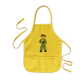Air Force Girl Kids Apron