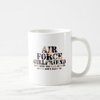 Air Force Girlfriend Answering Call Coffee Mug