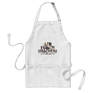 Air Force Girlfriend Answering Call Standard Apron