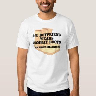Air Force Girlfriend Desert Combat Boots Tshirt