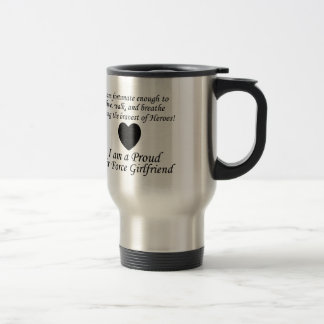 Air Force Girlfriend Fortunate Stainless Steel Travel Mug