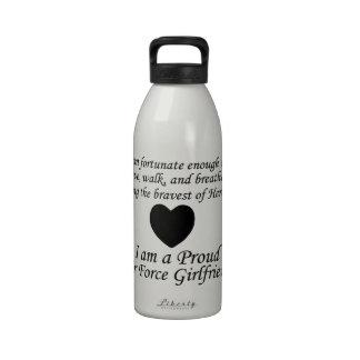 Air Force Girlfriend Fortunate Water Bottle
