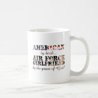 Air Force Girlfriend Grace of God Basic White Mug