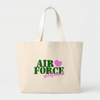 Air Force Girlfriend Green Pink Heart Tote Bag