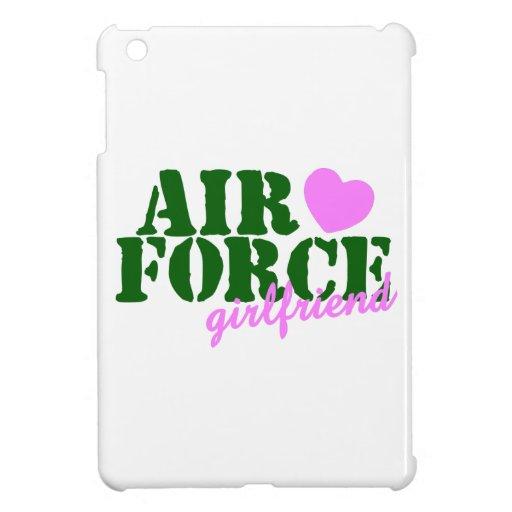 Air Force Girlfriend Green Pink Heart iPad Mini Cover