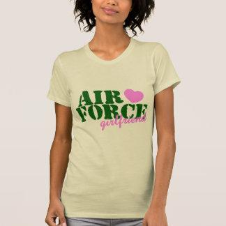 Air Force Girlfriend Green Pink Heart Tees