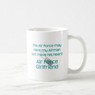 Air Force Girlfriend Have heart Basic White Mug