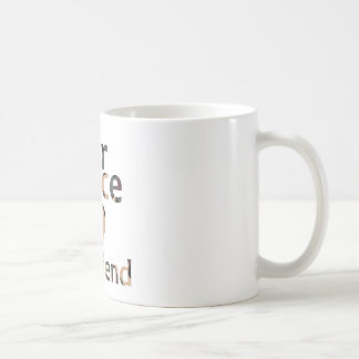 Air Force Girlfriend Heart Camo Basic White Mug