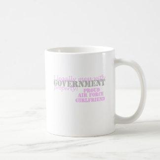 Air Force Girlfriend Legally mess Basic White Mug