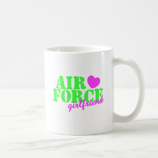 Air Force Girlfriend Lime Green Mugs